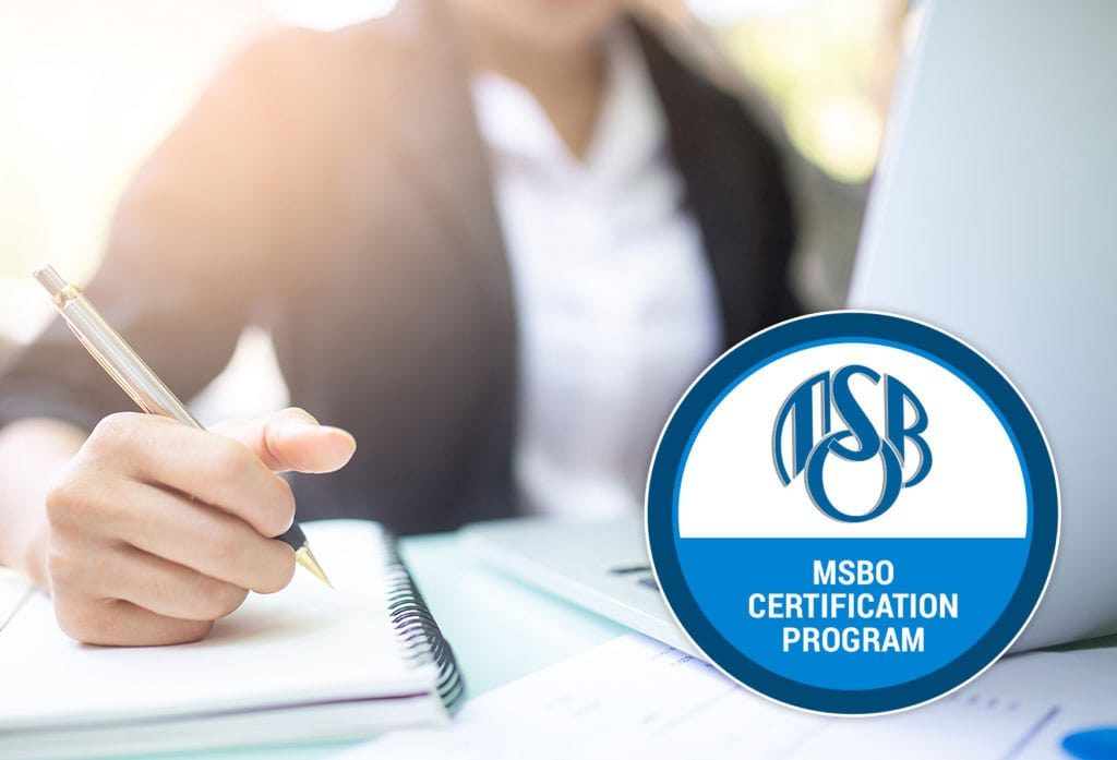 young woman working to complete the MSBO certification program